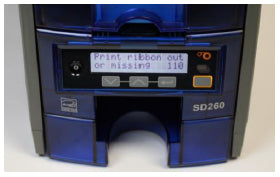 Datacard Desktop Printer Error Code on LCD screen