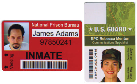 Colored lines in printed ID cards