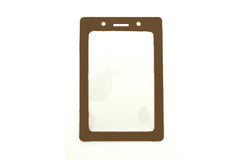 Brown Vertical Vinyl Color-Frame Badge Holder 1820-3003