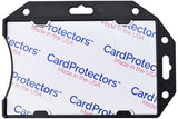 CardProtector™ Black Rigid RFID Shielded One-Card Holder Horizontal