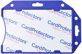 CardProtector™ Blue Rigid RFID Shielded One-Card Holder Horizontal