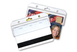 1840-8000 Frosted Rigid Plastic Horizontal Half Card Holder