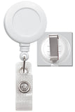 White Badge Reel with Reinforced Vinyl Strap & Belt Clip 2120-3008