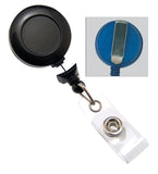 No-twist Black Round Badge Reel 2120-3050