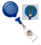 No-twist Navy Blue Round Badge Reel 2120-3051