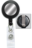 Black Badge Reel with Silver Sticker, Reinforced Vinyl Strap & Belt Clip 2120-3101