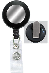 Black Badge Reel with Silver Sticker, Reinforced Vinyl Strap & Spring Clip 2120-4501