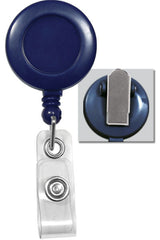 Blue Badge Reel with Clear Vinyl Strap & Spring Clip 2120-4702