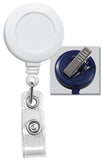 White Badge Reel with Swivel Spring Clip 2120-7608