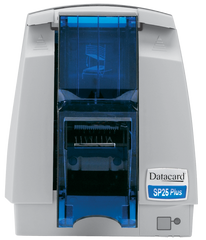 Datacard® SP25 Plus Card Printer front with hopper