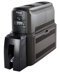 Datacard® CD800™ Duplex Card Printer with Single Commercial Lamination Module and Tactile Impression Module Left Angle