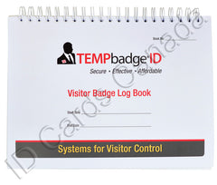 TEMPbadge® Visitor Badge Log Book 05741 Closed