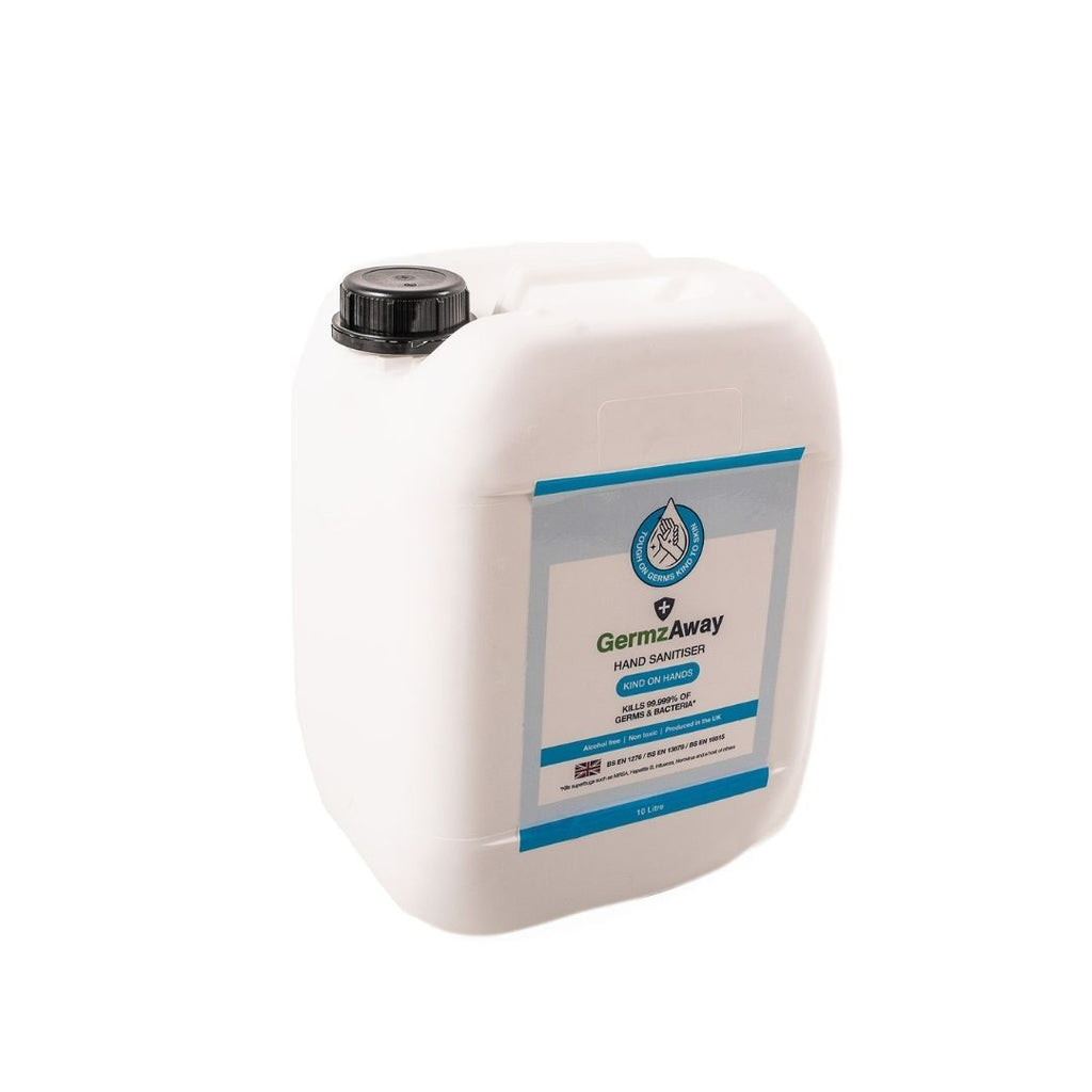 10 Litre Jerrycan of Alcohol-Free Hand Sanitiser Solution.