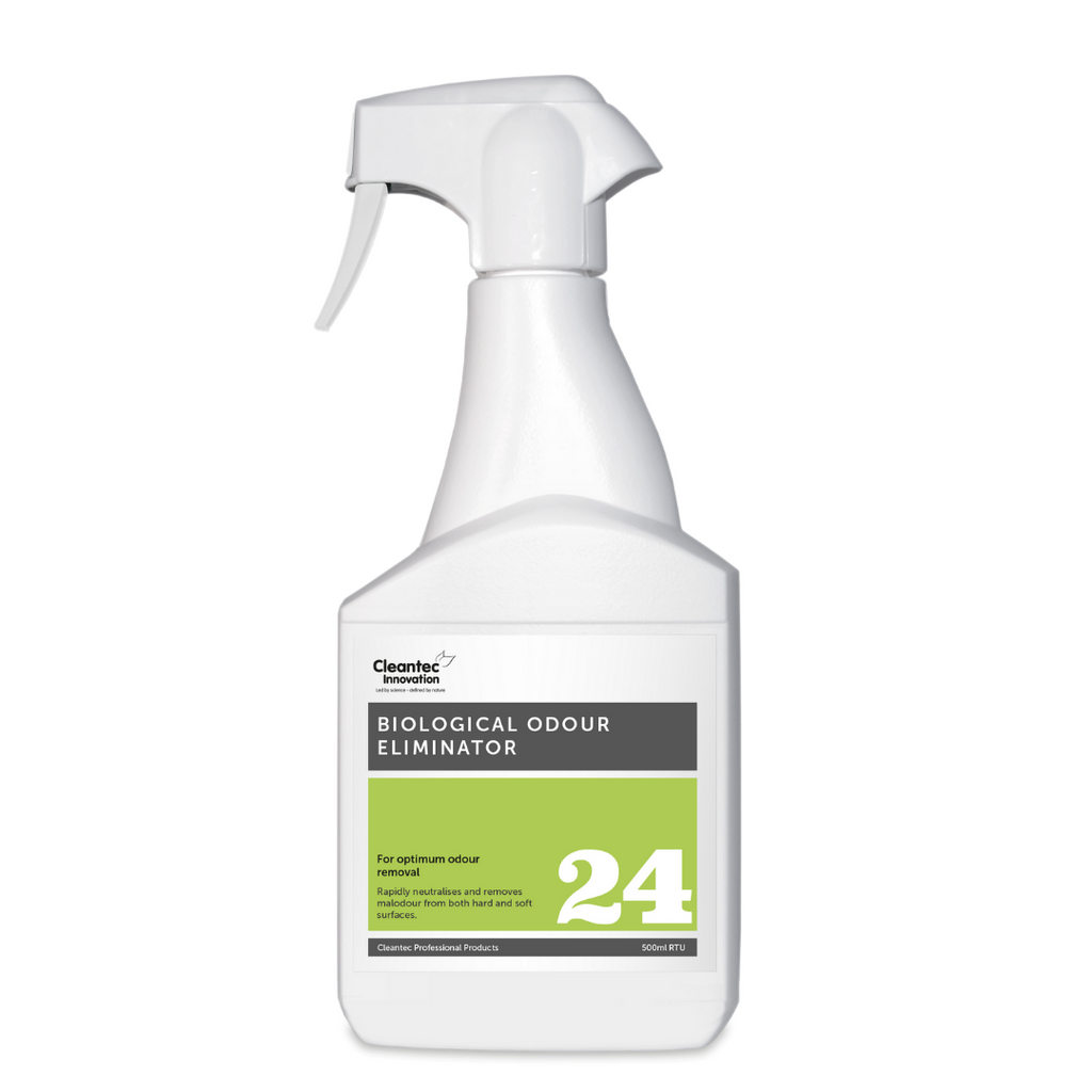 Pro 24 Biological Odour Eliminator: 500ml Trigger Spray Bottle