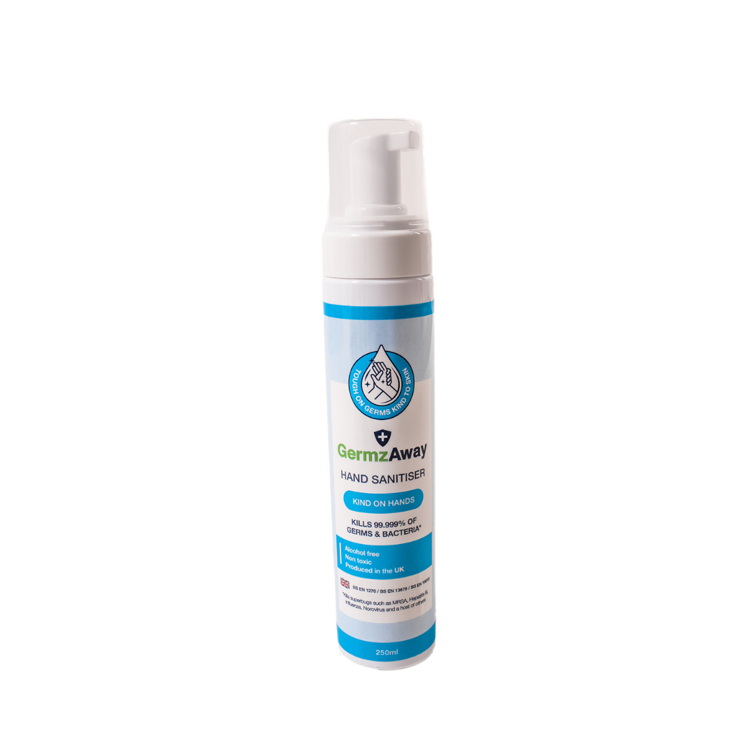 250ml Hand Sanitiser with Alcohol-Free Foam and 500ml Refill Bottle.