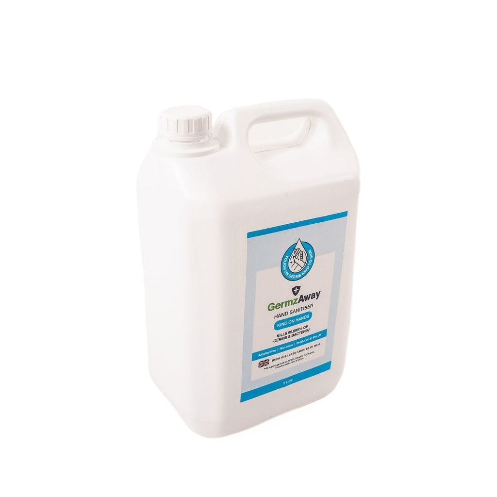 5 Litre Jerrycan of Alcohol-Free Hand Sanitiser Solution.