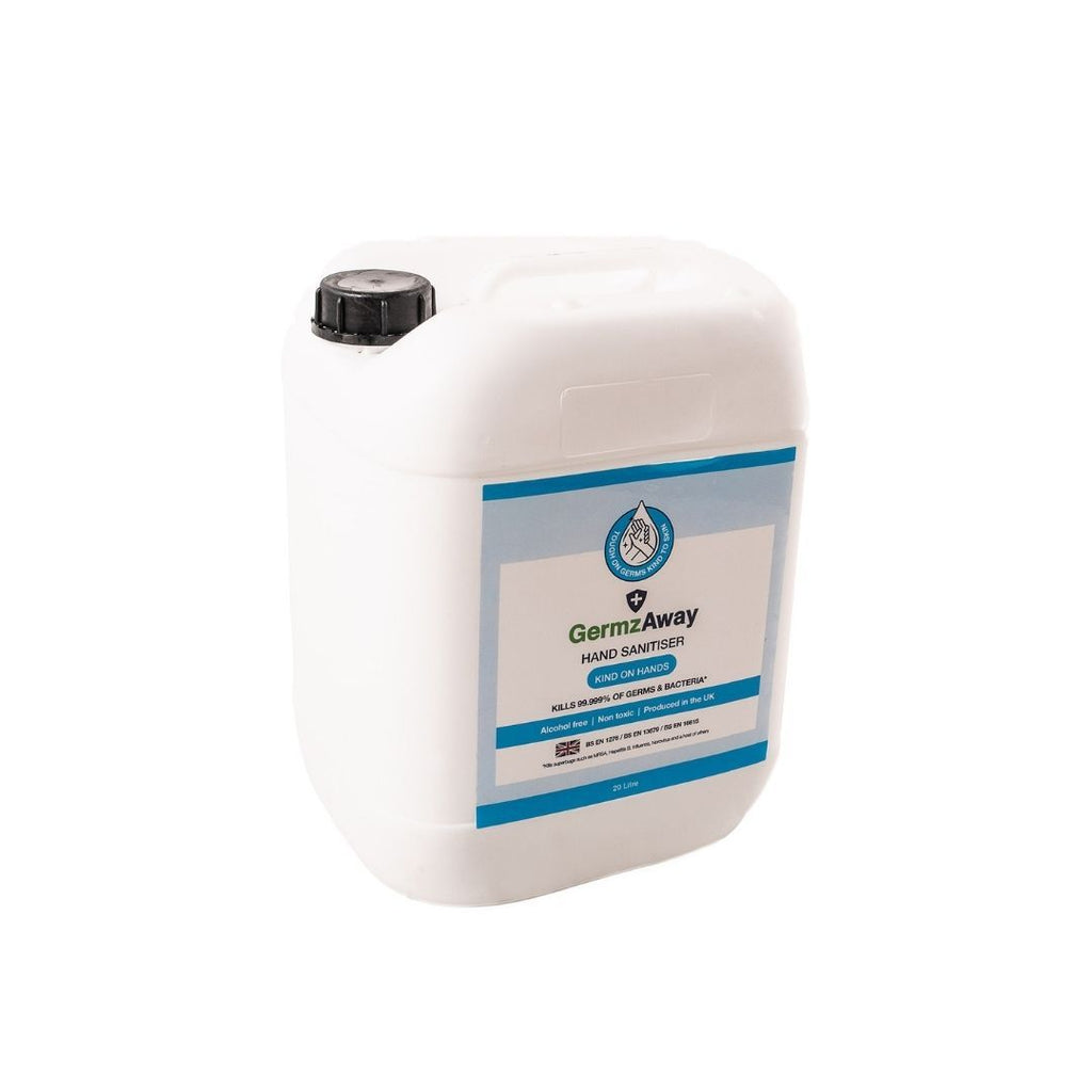20 Litre Jerrycan of Alcohol-Free Hand Sanitiser Solution.