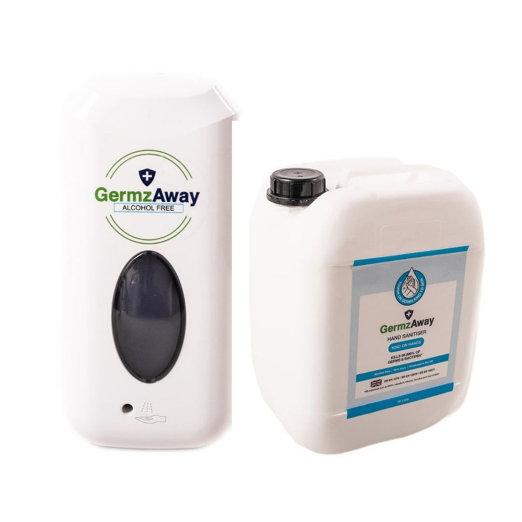 Hand Sanitiser Automatic Dispenser with 10 Litre Jerrycan Refill.
