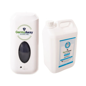Hand Sanitiser Automatic Dispenser with 5 Litre Jerrycan Refill.