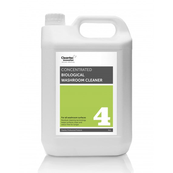 Pro 4 Biological Washroom Cleaner: 2 x 5L Concentrate.