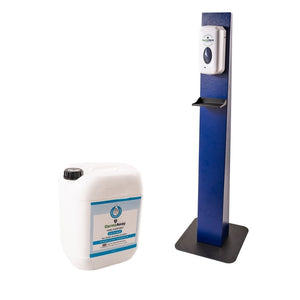 Hand Sanitising Dispenser Stands With Auto Dispenser and 20 Litre Jerrycan Refill - GermzAway