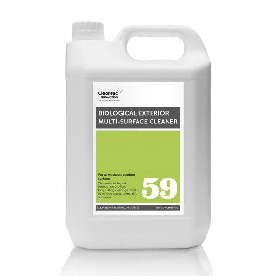 Pro 59 Biological Exterior Multi-Surface Cleaner: 2 x 5L Concentrate.
