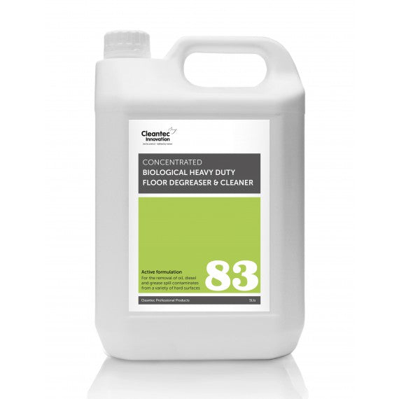 Pro 83 Biological Heavy Duty Floor Degreaser & Cleaner: 2 x 5 Litre Concentrate.