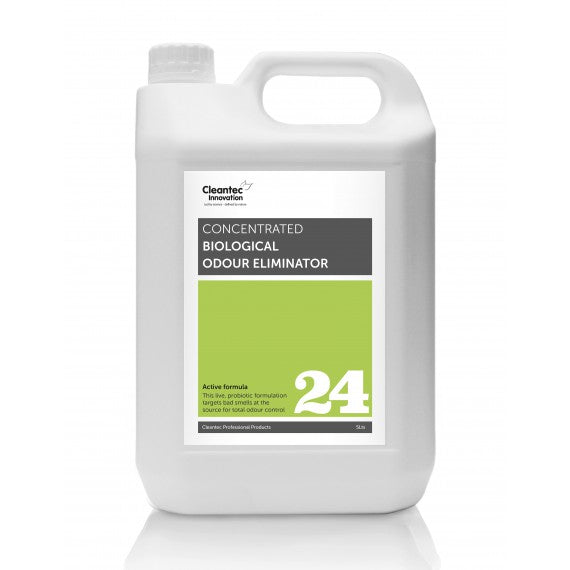 Pro 24 Biological Odour Eliminator: 2 x 5L Concentrate.