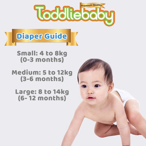 Toddliebaby Gentle Touch Diapers Size L - 40 pcs x 6 packs (240 pcs) - Taped