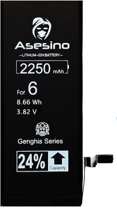 Apple iPhone 6 Replacement Battery 2250mAh A1549, A1586 A1589 (Elite Genghis Series)