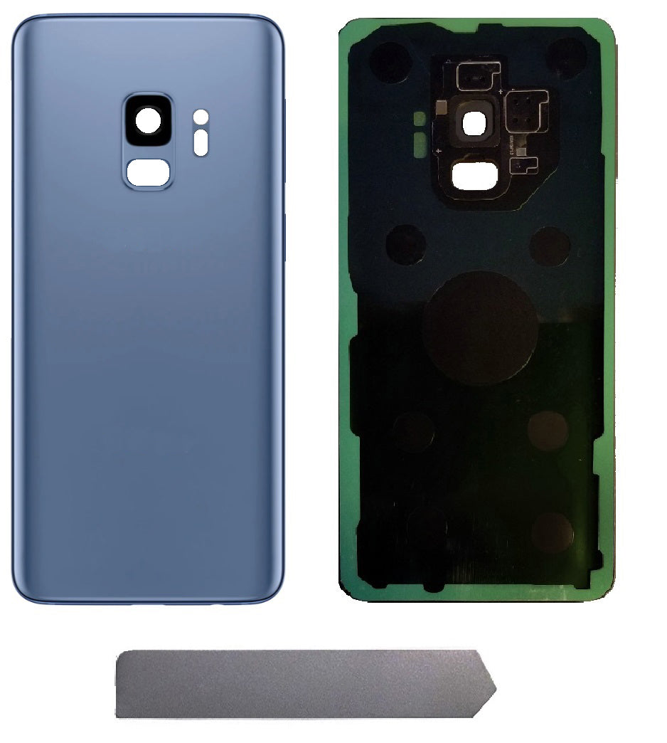 Samsung Galaxy S9 Blue Back Glass Cover with Pre-Installed Adhesive (G960)