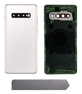 Samsung Galaxy S10 Prism White Back Glass Cover with Pre-Installed Adhesive (G975)