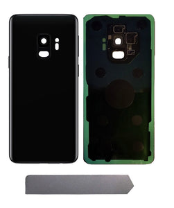Samsung Galaxy S9 Midnight Black Back Glass Cover with Pre-Installed Adhesive (G960)
