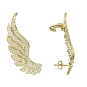 Gabriel Angel Wing Ear Climber Gold