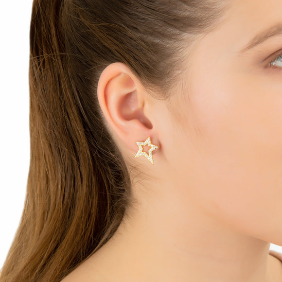 Open Star Stud Earring
