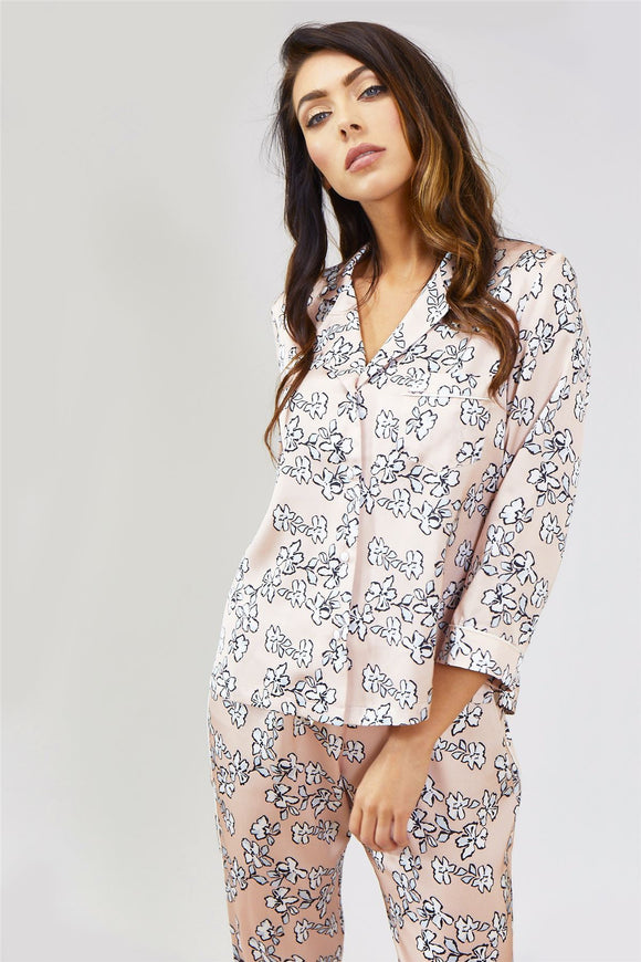 Mix and Match Floral Shirt in Blush Pink (Shirt only)