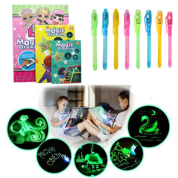 1PC A5 LED Luminous Drawing Board Graffiti Doodle