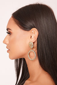 Remi Gold Textured Statement Earrings