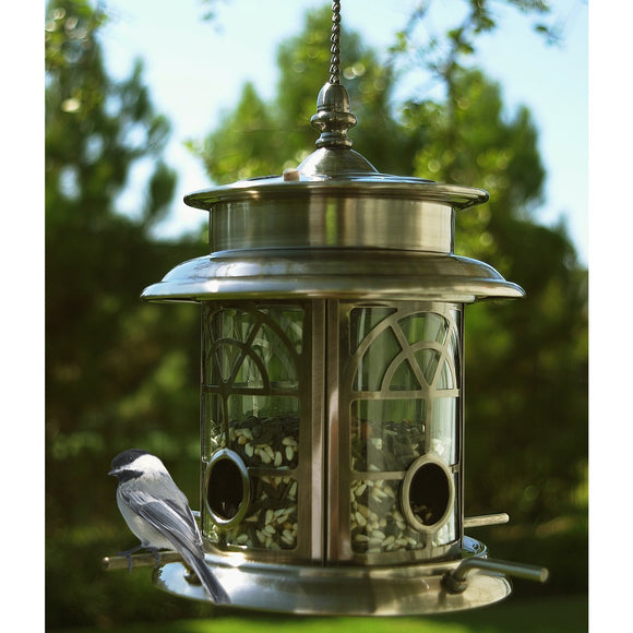 SunRay Arch Inlay Solar Bird Feeder