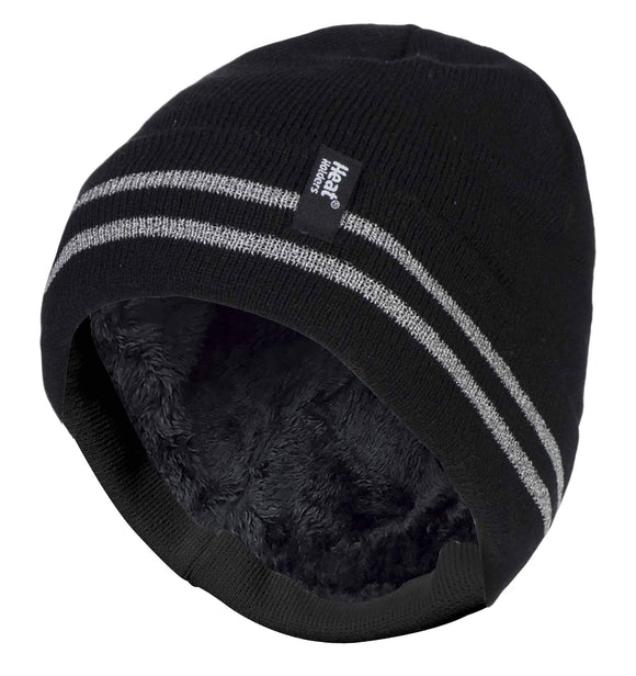 Mens Hi-Visibility Reflective Thermal Beanie Hat