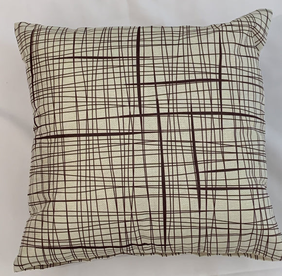 Cushion Covers Style 62909 Cotton Linen 45 x 45 cm for Sofas, Beds