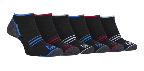6 Pairs Mens Cushioned Trainer Sports Socks