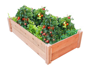 GroGardens 2' x 4' Redwood Raised Garden Bed