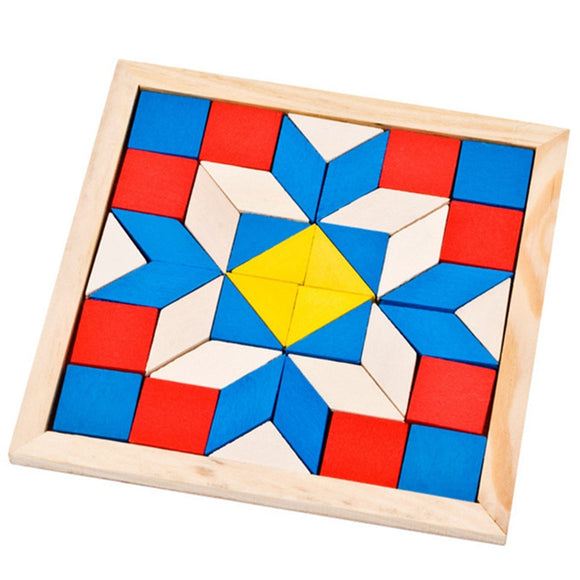 Wooden Tangram Brain Teaser Puzzle Toys Geometric