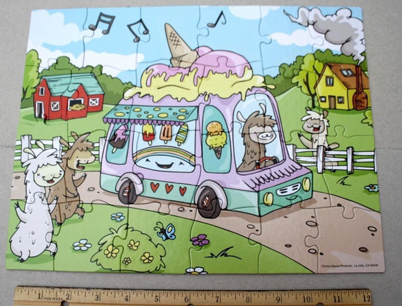 Alpaca Jigsaw Puzzle - Ice Cream Treat
