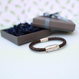 Personalised Twisted Leather Bracelet
