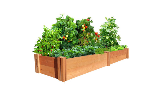 GroGardens 1' x 8' Redwood Raised Garden Bed