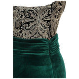 Women's Evening Dress Halter Luxury Sequin Pattern Illusion Prom Party