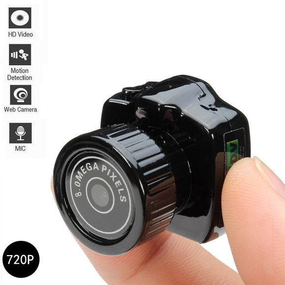 Y2000 720P Mini Super Micro HD CMOS 2.0 Mega Pixel Pocket Video Audio Digital Camera Mini Camcorder DV DVR Recorder Web Cam