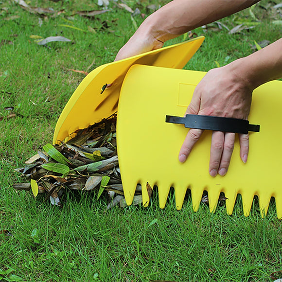 34*25CM Leaves Garden Cleaning Rubbish Leaf Scoop Collect Tool Hand Rakes Trimming Grass Portable Yard Lawn Grabber Pick Up